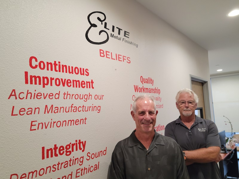 President Dan Rose and Steve Parkhurst, Director of Quality and Facilities.