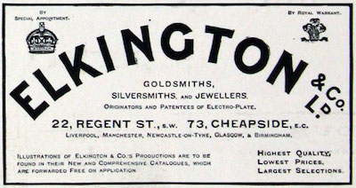 Ad for Elkington Electro Plate
