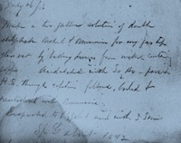 Notes from Dr. Adams' laboratory notebook from July 26, 1866. 5